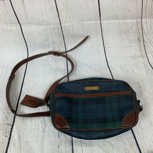 VTG Polo by Ralph Lauren Plaid Leather Cross Body